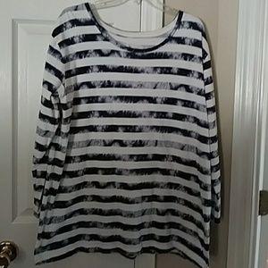 Navy & white  shirt